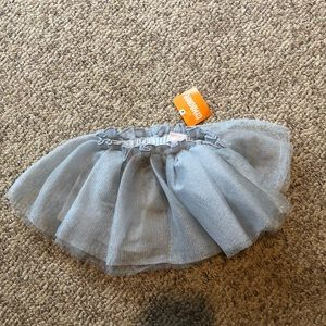 New Gymboree silver Tutu metallic holiday skirt 3